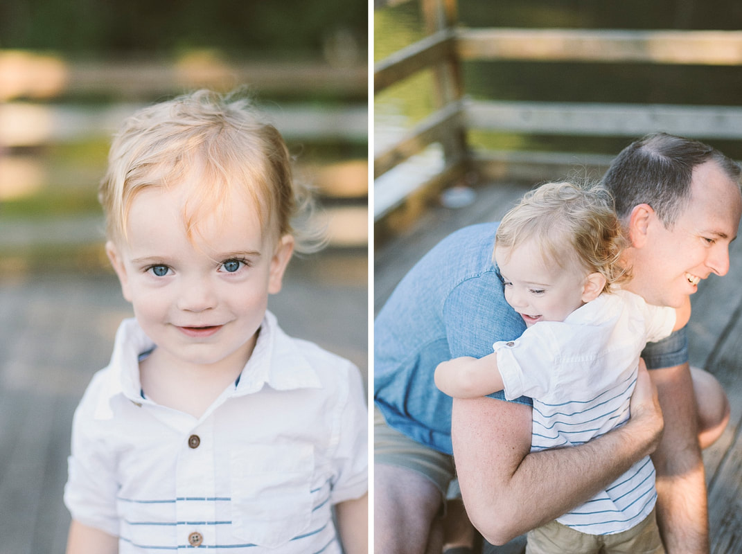A summer lifestyle family session at Carvins Cove in Roanoke, Virginia by Laura Richards Photography