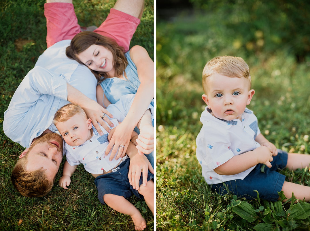 Roanoke family photography session on the Greenway.