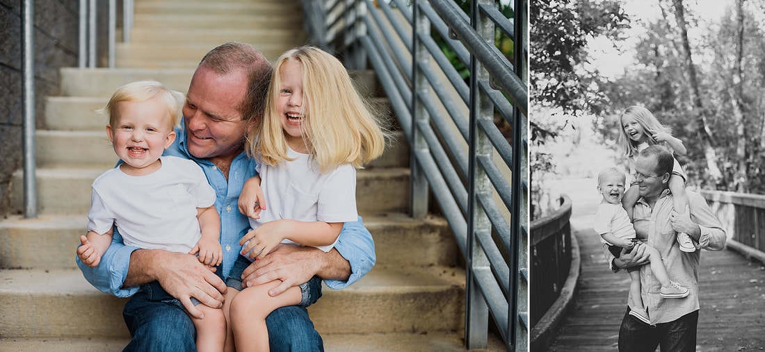 Father-daughter family session in Roanoke, Virginia, by Laura Richards Photography