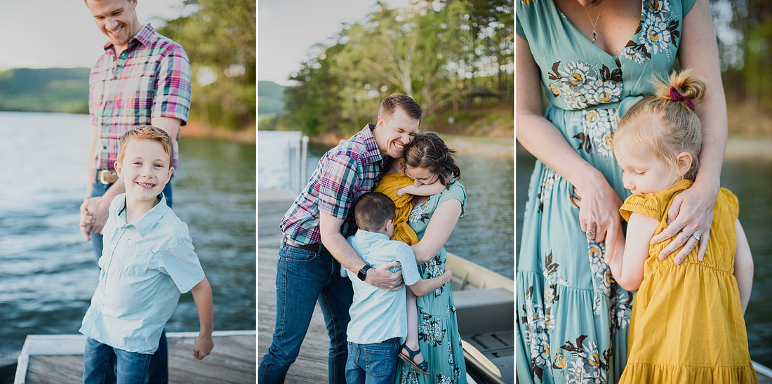 Family photography session at Carvins Cove Natural Reserve in Roanoke, Virginia, by Laura Richards Photography